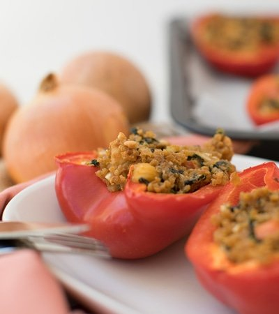 Protein Stuffed Peppers single
