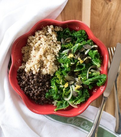 Curly Kale and Lentils single