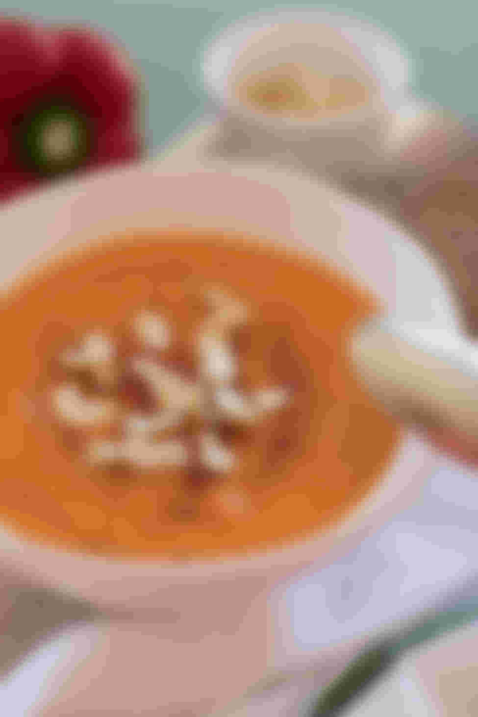 Roasted Red Pepper Soup close up