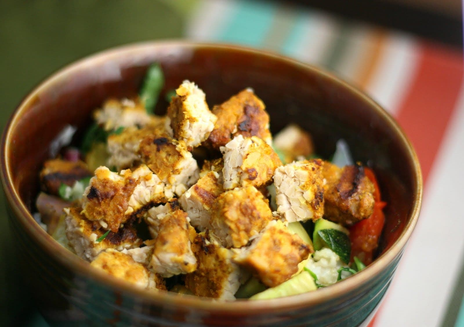 Coconut Curry Grilled Tempeh