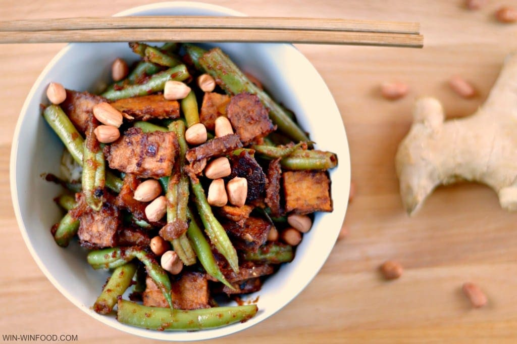 Green Bean and Tempeh Stir Fry